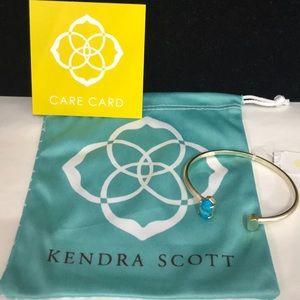 NWT. Kendra Scott Vada cuff bracelet. Blue stone.